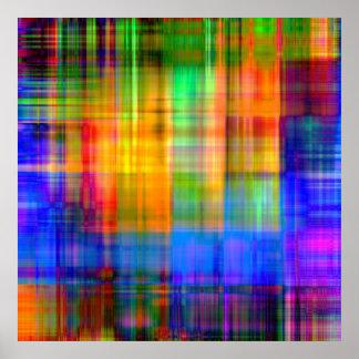 Plaid Spectrum Poster