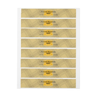 Plaid Stripes Personalized Honey Jar Wraparound Address Label