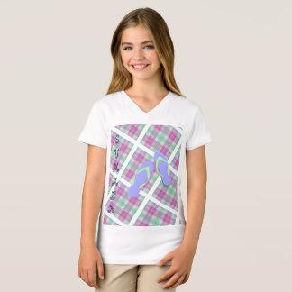 Plaid Summer Flip Flops T-Shirt