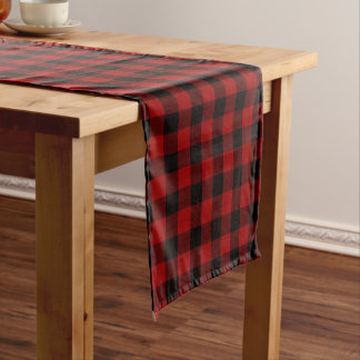 Plaid Table runner Black and Red