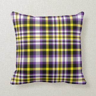 plaid tartan accent couch decorative pillow