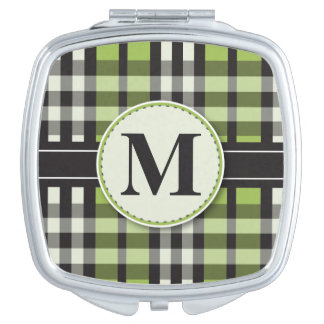 Plaid Tartan Compact Mirror Bridal Party Gift