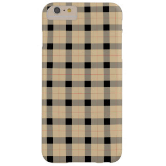 Plaid / tartan  pattern beige and black barely there iPhone 6 plus case