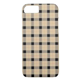 Plaid / tartan  pattern beige and black iPhone 8/7 case