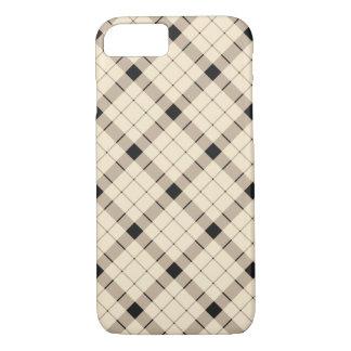 Plaid /tartan pattern brown and Black iPhone 8/7 Case