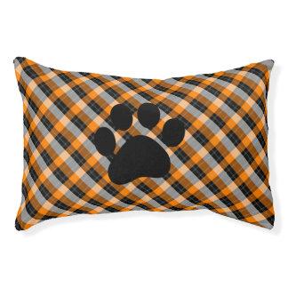 Plaid /tartan pattern orange and Black