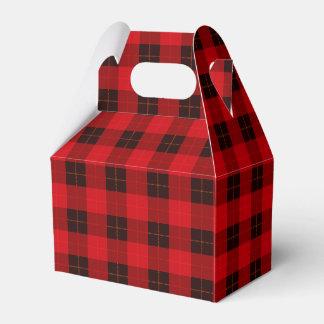 Plaid /tartan pattern red and Black Favour Box