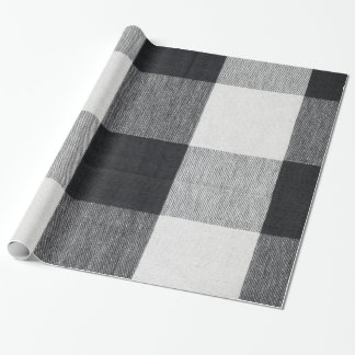 Plaid Textured Wrapping Paper