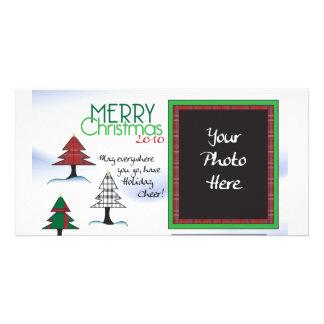 Plaid tree Chrsitmas Card Personalized Photo Card
