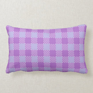 Plaid Violet  Stripes Lumbar Cushion