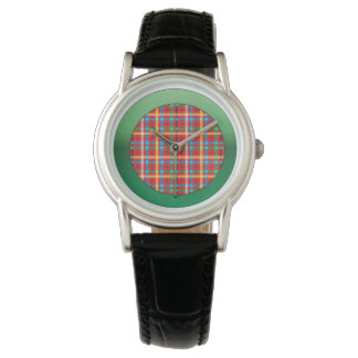 Plaid with Illuminate Green Watch