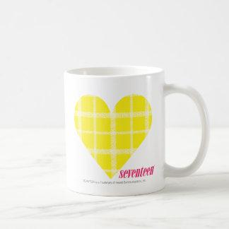 Plaid Yellow 2 Basic White Mug