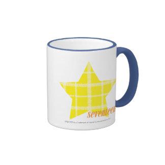 Plaid Yellow 4 Ringer Mug