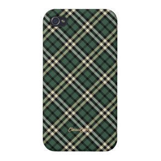 Plaid Yellow Black Green Pattern Savvy iPhone 4 Cover