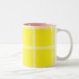 Plaid Yellow Coffee Mugs
