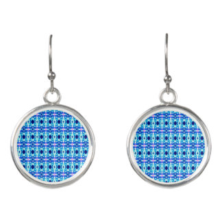 Plaidish Blue Earrings