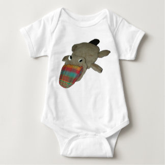 Plaidypus apparel--no text baby bodysuit