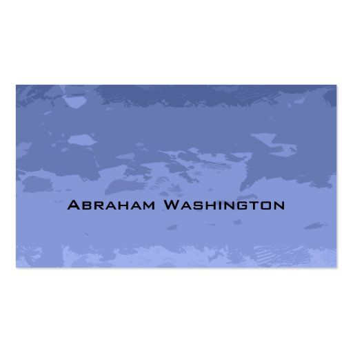 Plain and Simple Business Card  - torn paper Bllue