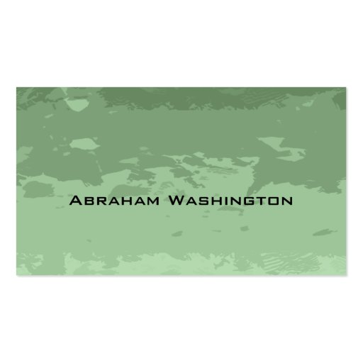 Plain and Simple Business Card  - torn paper Green