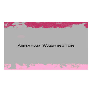 Plain and Simple Business Card  - torn paper Grey