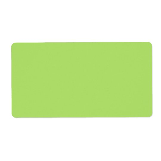 Plain apple green solid background blank shipping label