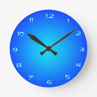 Plain Aqua/ Blue Illuminated > Kitchen Clocks