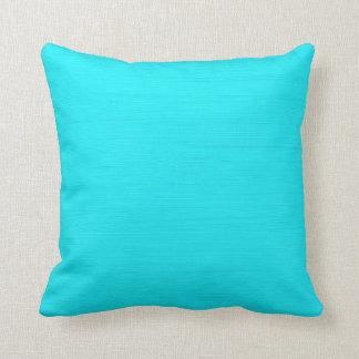 Plain aqua (cyan) background cushion