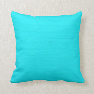 Plain aqua (cyan) background throw pillow