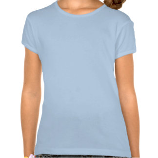 Plain baby blue fitted baby doll t-shirt for girls