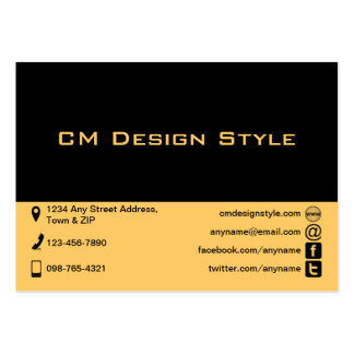 Plain Black and Any Color Icons Business Cards