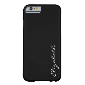 Plain Black Background Barely There iPhone 6 Case