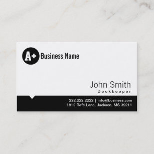 Bookkeeper business cards zazzle au plain black dot bookkeeper business card colourmoves