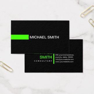 Plain Black Elegant Modern Harlequin Business Card