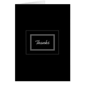 Plain Black Groomsman Wedding Thank You Note Card