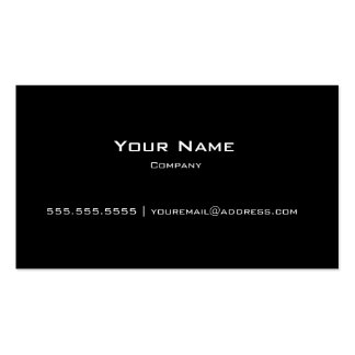 Plain Black Modern Personal/Company Business Card