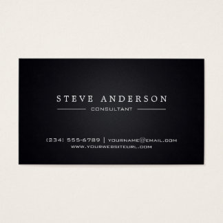 Plain Black Professional Modern Style Business Card