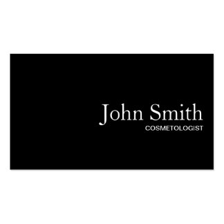 Plain Black QR Code Cosmetologist Business Card