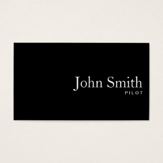 Plain Black QR Code Pilot/Aviator Business Card