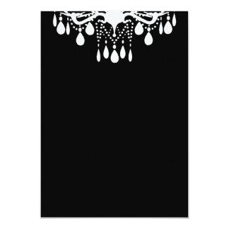 Plain Blank Black Grand Ballroom 13 Cm X 18 Cm Invitation Card
