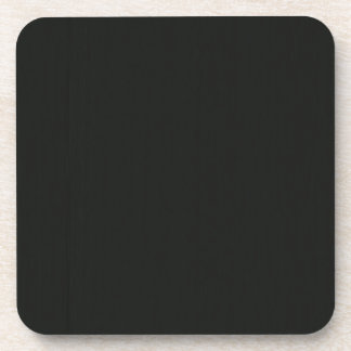 Plain Blank Black Grey DIY add quote text photo Drink Coaster