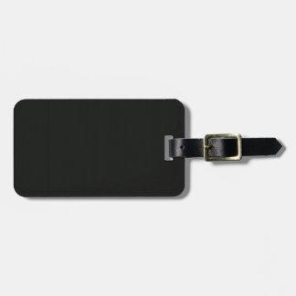 Plain Blank Black Grey DIY add quote text photo Luggage Tag