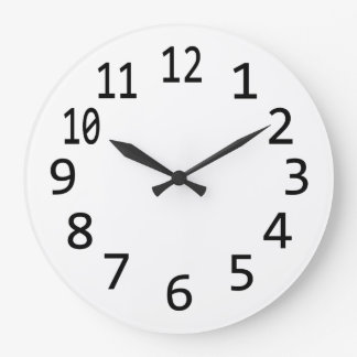 Plain Blank Numbered Clock to Design Your Own, DIY