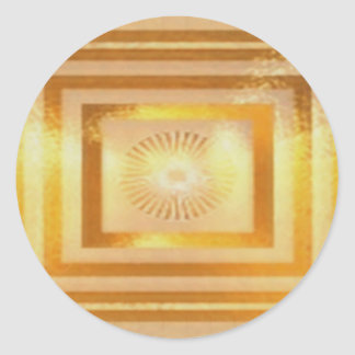 Plain Blank Template DIY Chakra Golden add TXT IMG Round Sticker