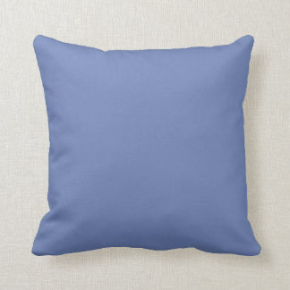 Plain Blue Throw Pillow