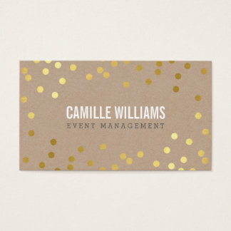 PLAIN BOLD MINIMAL confetti gold eco natural kraft