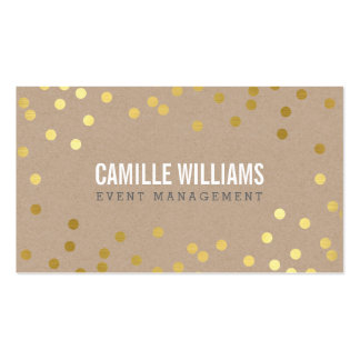 PLAIN BOLD MINIMAL confetti gold eco natural kraft Pack Of Standard Business Cards