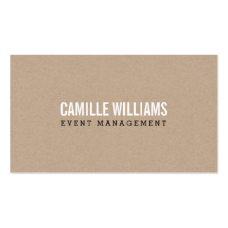 PLAIN BOLD MINIMAL smart text natural kraft Pack Of Standard Business Cards