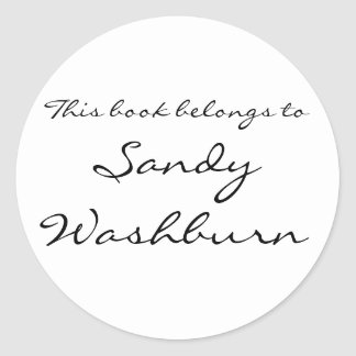 Plain bookplate - classic round sticker