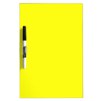 Plain Bright Yellow Dry Erase Board