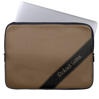 Plain Brown Personalized Laptop Sleeve